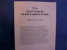 1948,1949,1950,1951,1952,1953 HUDSON Parts/Trim/Resto Guide--vintage shop info
