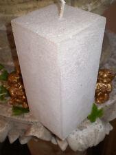 German pearlised brushed square pillar candles,natural wax,slow burning