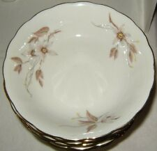 Crown Heiden Six Fruit Bowls Scallop Floral with Gold Trim