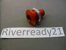 Bilge Pump Hose Outlet Livewell 3/4 Fitting Aluminum Jet-ski Sea-doo Boat Orange