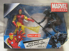 Marvel Universe Iron Man vs. Black Panther Exclusive Action Figure 2-Pack - NEW