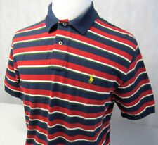 Ralph Lauren Polo Small Pony Striped Blue Red White Green Polo Golf Shirt Mens L
