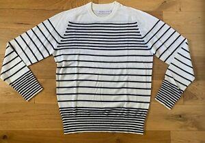 Orlebar Brown Jumper Top Striped Lightweight Fine Knit Medium New