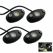 Pack-4pcs Multi-Function White Rock Led light Suit For Car 4x4 Off-Road Vehicles