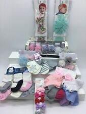 NEW LOT Baby Bling Bows Wraps Mint Green Floral Carter's Gerber Socks Clippies +