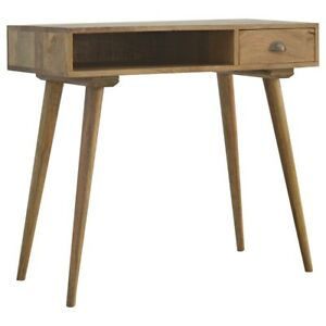 Solid Wood Writing Desk with Open Slot with 4 Scandinavian style legs 100% Wood