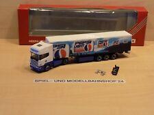 "Herpa 186476, Scania R 144 TL, ""Pepsi Light"", Koffer SZ, Neuw. Vitrinenm. OVP"