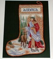 "Teresa Wentzler ""Woodland Angel Stocking"" Counted Cross Stitch Pattern Chart EP"