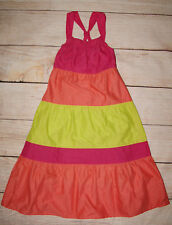 George Brand New Girls Multi-Coloured Striped Pattern Dress Age 7-8 Years