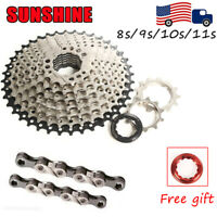 MTB Bike/Bicycle 11-40/42/46/50T Cassette KMC Chain 8/9/10/11Speed Cassettes Cog