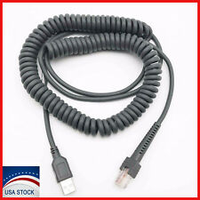 USB Coiled Cable For ls2208 ls7808 ls7708 M2007 Symbol Scanner Barcode 15 Feet