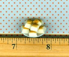 Dollhouse Miniature size Plate of Sue's Dinner Bread Rolls / Biscuits
