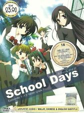 DVD School Days (TV 1 - 12 End + 2 OVA ) + Free Anime  +Free Shipping