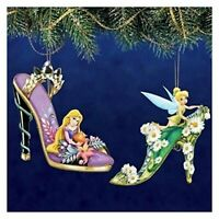 Disney Once Upon a Slipper Ornament Set #9 Rapunzel and Tinker Bell