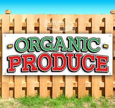 ORGANIC PRODUCE Advertising Vinyl Banner Flag Sign Many Sizes CARNIVAL FAIR FOOD