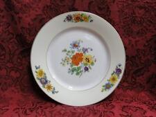 """Thun Thu71 Floral Rim & Center, Cream Band: Salad Plate (s), 7.5"""""""