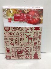 Christmas Kitchen Dining Room Table Dinner Fabric 60x102 Oblong Tablecloth Red
