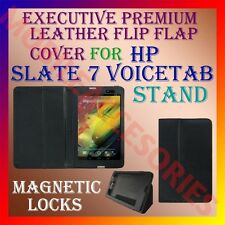 ACM-EXECUTIVE LEATHER FLIP FLAP CASE for HP SLATE 7 VOICETAB TABLET COVER STAND