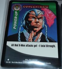 Concentrate # 51/131 X-Men Trading Playing Cards Games TCG Uncommon Xmen MINT