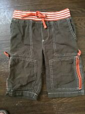 Mini Boden Boys Size 5 Olive Green Brown Techno Shorts Technos Cargo