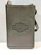 "Harley-Davidson Womens Small Shoulder Bag Purse Black Leather 7 X 10"" FREE SHIP"