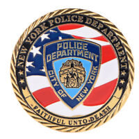 New York Police Department Gold Plated Commemorative Challenge Coin Collection¾w