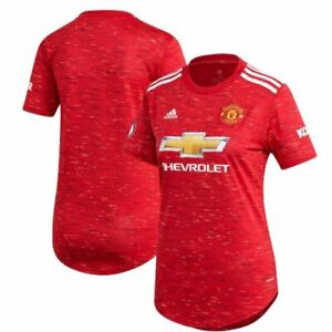 adidas Manchester United 2020 - 2021 Womens Home Soccer Jersey New Red