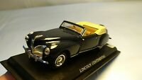 Vintage 1:43 1941 Black Lincoln Continental Classic American Diorama Car Toy
