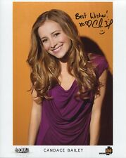 CANDACE BAILEY HAND SIGNED 8x10 COLOR PHOTO+COA     HOT ATTACK OF THE SHOW HOST