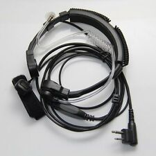 1 X Flexible Throat Mic Microphone Covert Acoustic Tube Earpiece Headset With Fi