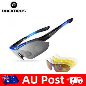 ROCKBROS Polarized Glasses Outdoor Cycling UV400 Goggles Eyewear AU Stock