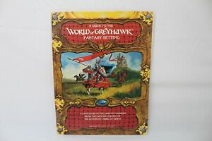 TSR 1983 A Guide to the World of GREYHAWK Fantasy Setting Dungeons Dragon
