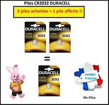 Promoción Pila de botón CR2032 litio Duracell, 2 pilas comprar = 1 pila