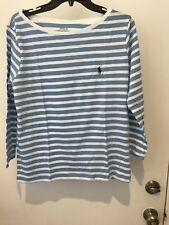 Polo Ralph Lauren Womens L Logo Crew Neck Long Sleeves Top NWT