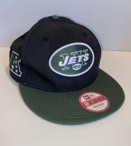 New York Jets New Era Snapback Cap NY NFL Black SIGNED