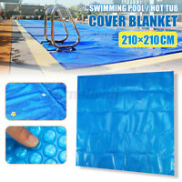 7'x7 Ft Square Spa & Hot Tub Thermal Solar Blanket Cover Heat Retention -