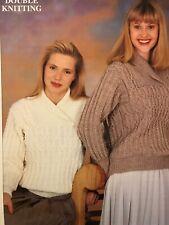 Patons Ladies Shawl Collar Sweater Double Knitting Pattern C 4306