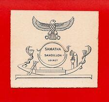 EX LIBRIS-LAURENT-SAMATHA-SANDILLON-LOIRET-ÉGYPTE-COBRA-DÉESSE MAÂT