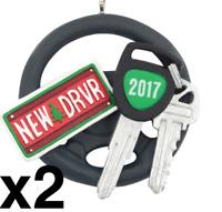 HALLMARK (LOT 2) New Driver 2017 Christmas Tree Ornament, NEW IN BOX, FREE SHIP