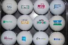Vintage set of 12 GOLF BALL LOGO Bank Financial Mortgage Credit Union Funds #2