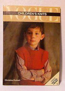 Vogue Children's Knits (Vogue Knitting Library No. 6) 1986
