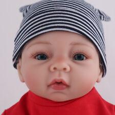 22'' REBORN BABY BOY DOLLS LIFELIKE NEWBORN ACCOMPANY VINYL SILICONE BABIES GIFT