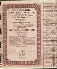Etablissements FERNAND CORDELLIER (ABBEVILLE SOMME 80) ( V)