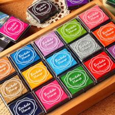 20 Color Fingerprint Ink Pad Sets - For All Ages - Rubber Stamps Card Making