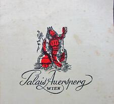 Austria Österreich AT - Palais Auersperg Wien - Getränkekarte