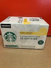 Starbucks Plus Coffee Honey Caramel 2X Caffeine K-cup, 6 boxes - 60 pods total