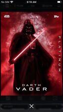 Topps Star Wars Digital Card Trader Platinum 2 Darth Vader Insert Award