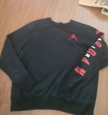 847e78a13b6373 Vintage AIR JORDAN black sweatshirt sweater mens Large UNISEX
