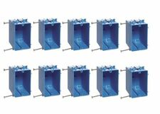 """10-Pce Single-Gang 18"""" Wall Outlet Light-Switch New-Work Plastic Electrical-Box"""