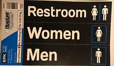 "2""x8"" No Smoking No Cell Phones No Soliciting & Restroom adhesive signs 6 Total"